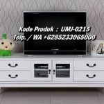 Meja TV Kayu Cat Putih Jepara