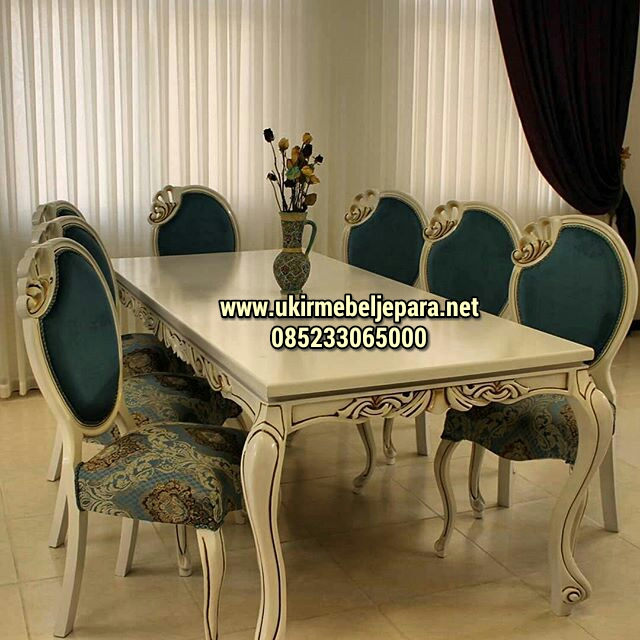 Set Kursi Makan Queen Model Baru
