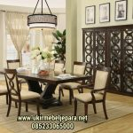 Set Ruang Makan Finishing Walnut